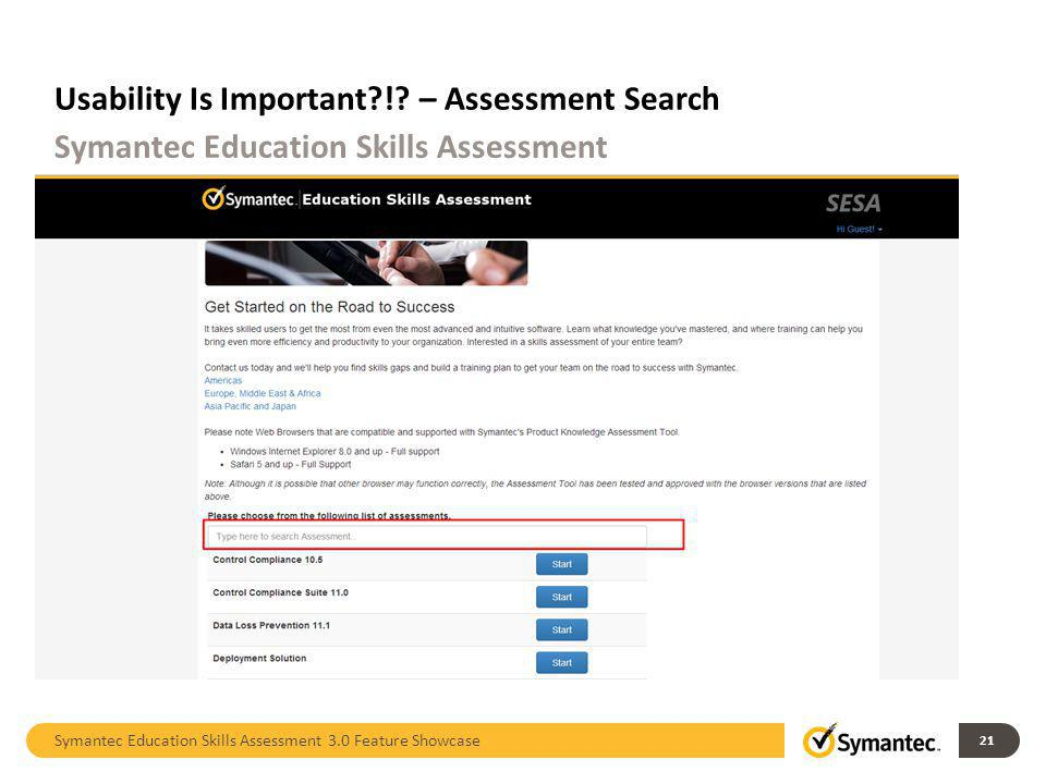 Usability Is Important ! – Assessment Search