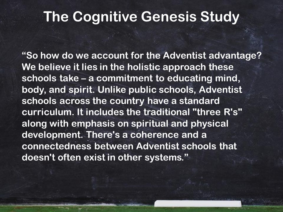 The Cognitive Genesis Study