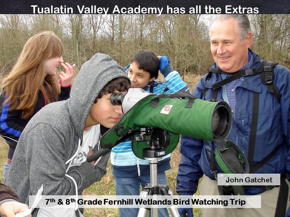 7th & 8th Grade Fernhill Wetlands Bird Watching Trip