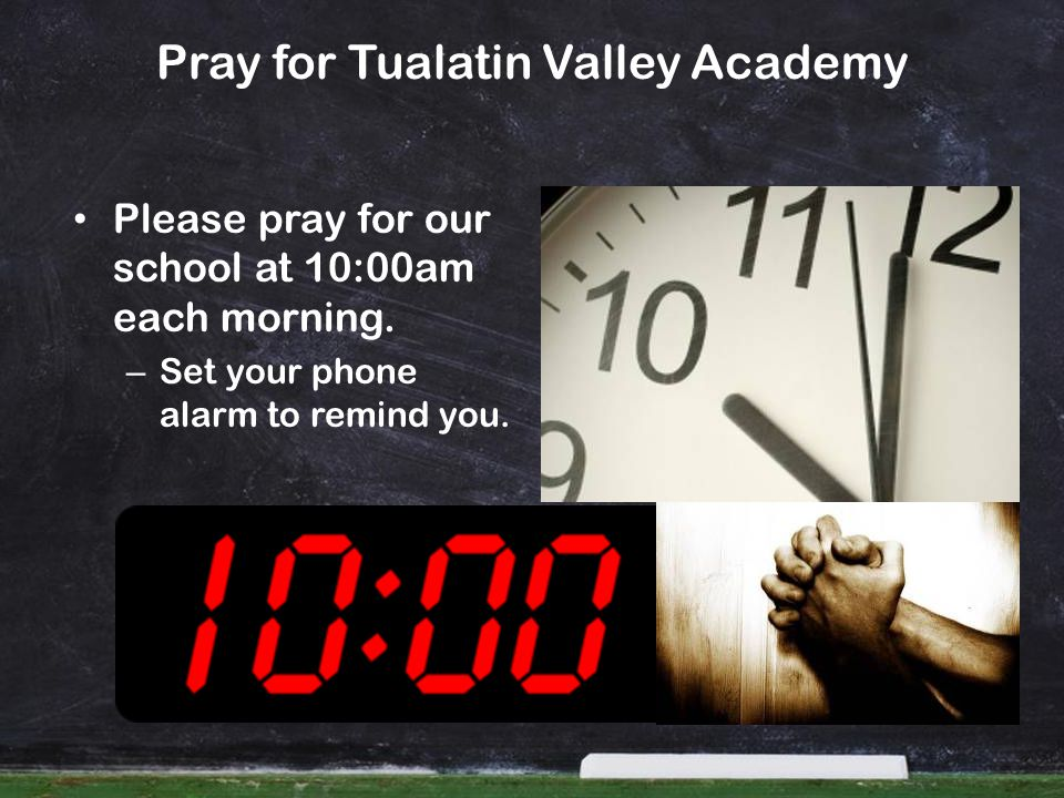 Pray for Tualatin Valley Academy