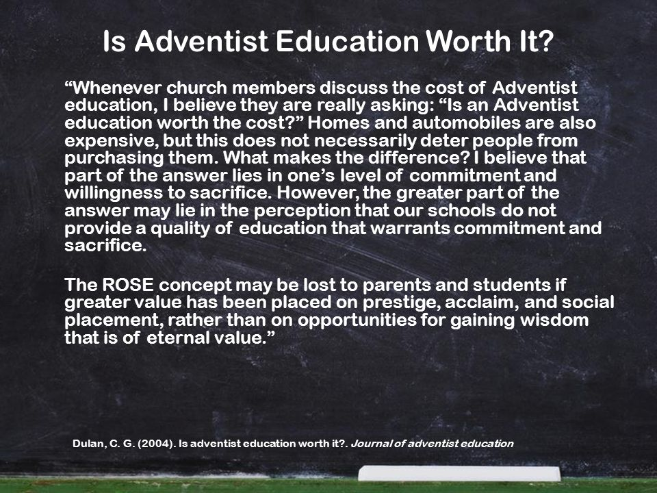 Is Adventist Education Worth It