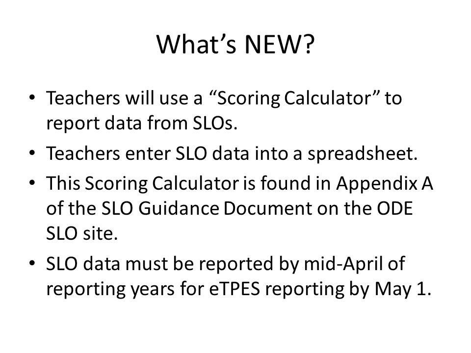 Student learning objectives slos student growth measures for Slo scoring template