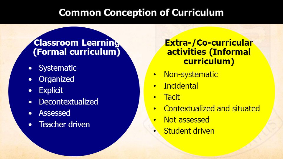 Common Conception of Curriculum