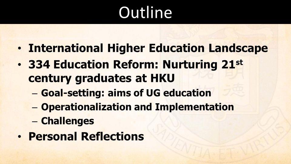 Outline International Higher Education Landscape
