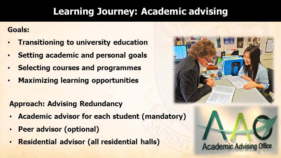 Learning Journey: Academic advising