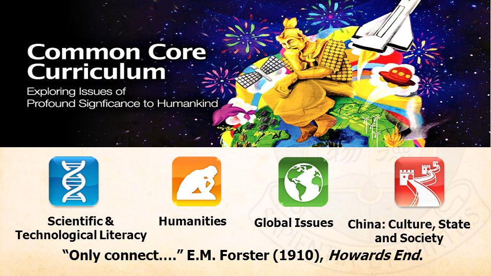 HKU Common Core 核心課程 Scientific & Technological Literacy. Humanities. Global Issues. China: Culture, State and Society.