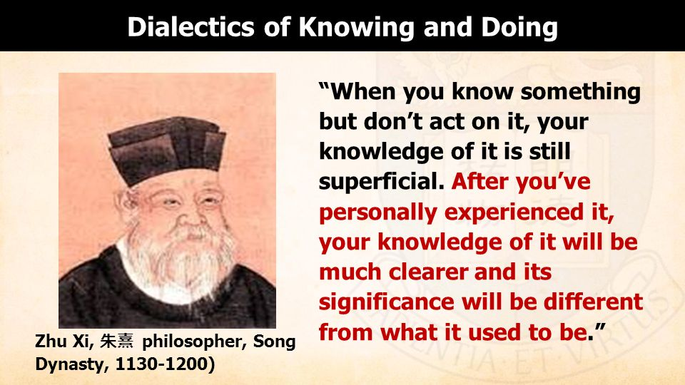 Dialectics of Knowing and Doing