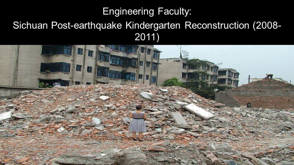 Sichuan Post-earthquake Kindergarten Reconstruction (2008- 2011)