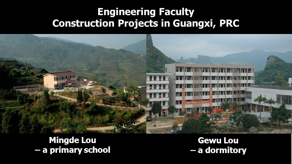 Construction Projects in Guangxi, PRC Mingde Lou – a primary school
