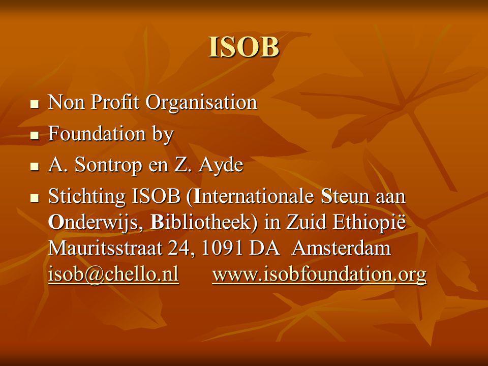 ISOB Non Profit Organisation Foundation by A. Sontrop en Z. Ayde
