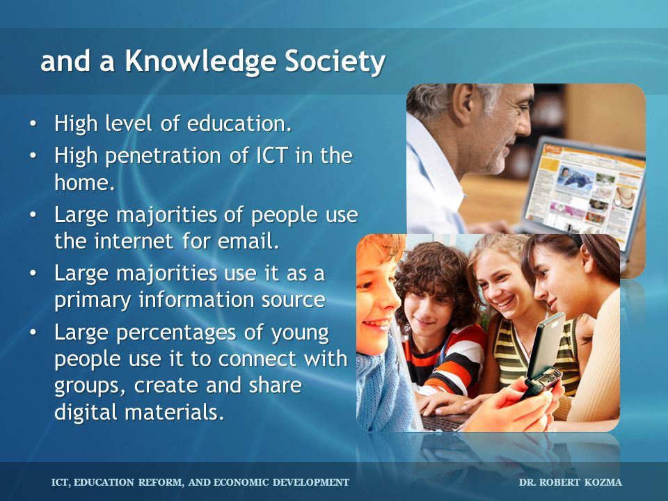 and a Knowledge Society