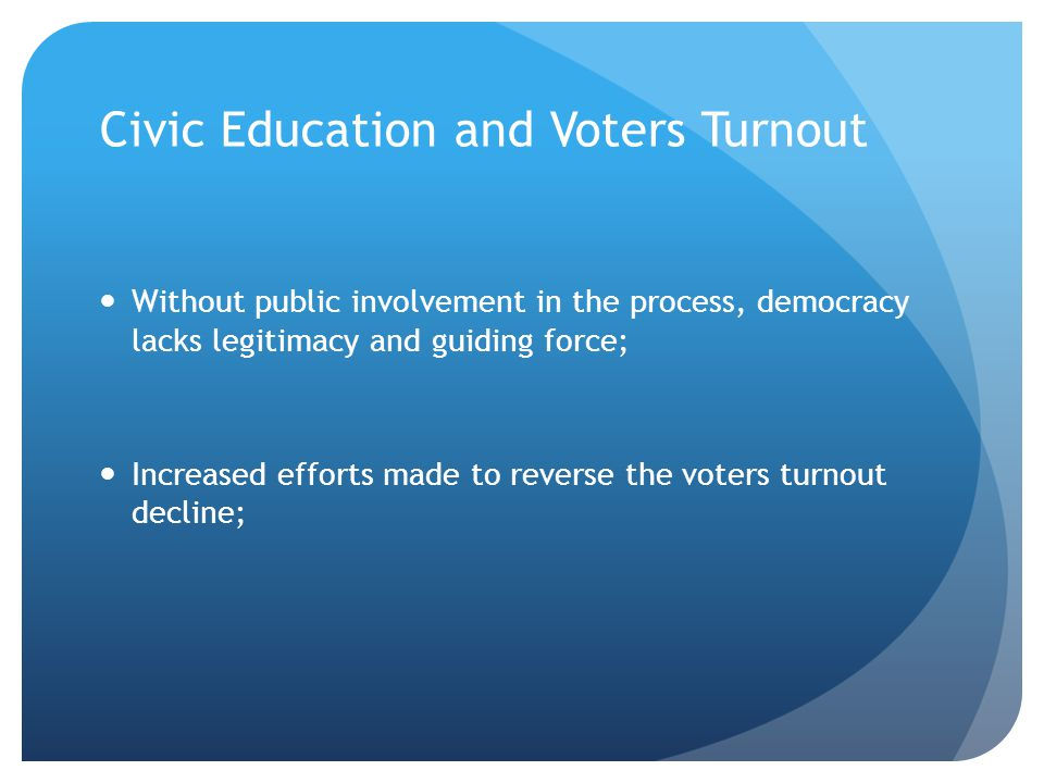 Civic Education and Voters Turnout