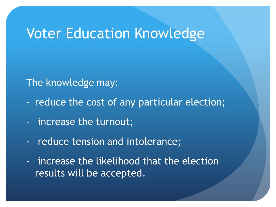 Voter Education Knowledge