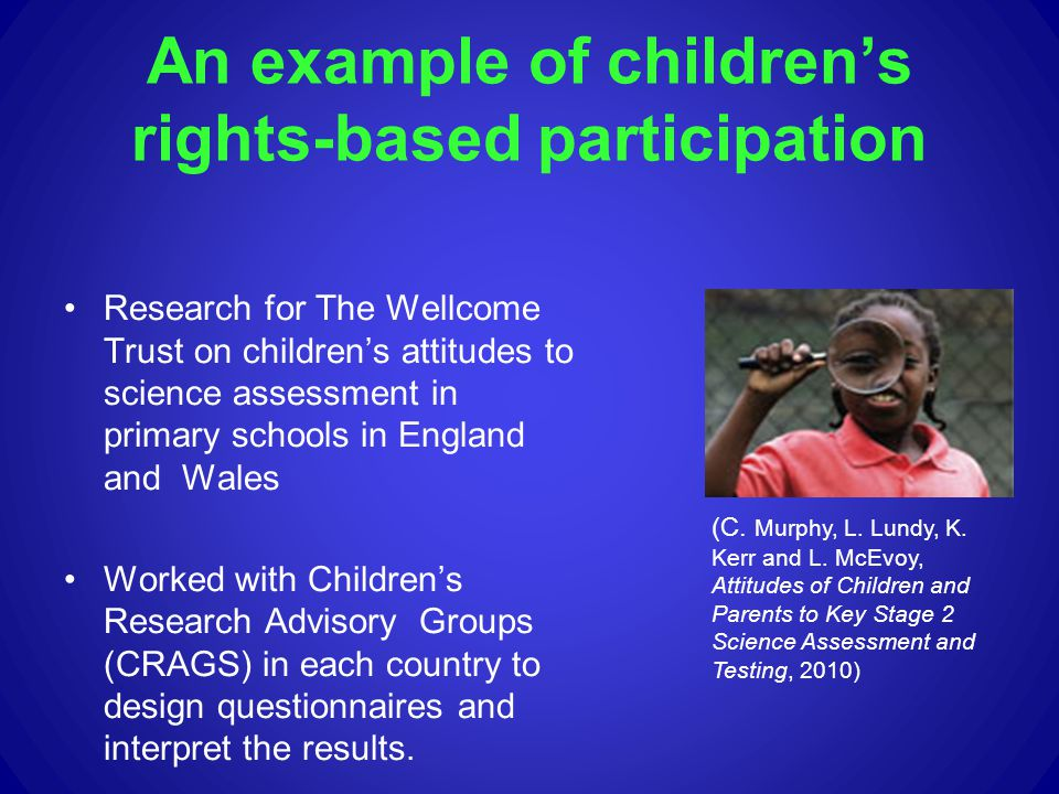 An example of children's rights-based participation