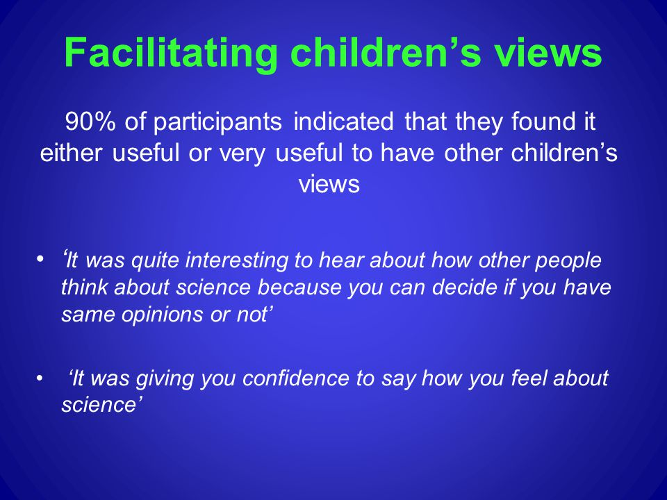 Facilitating children's views