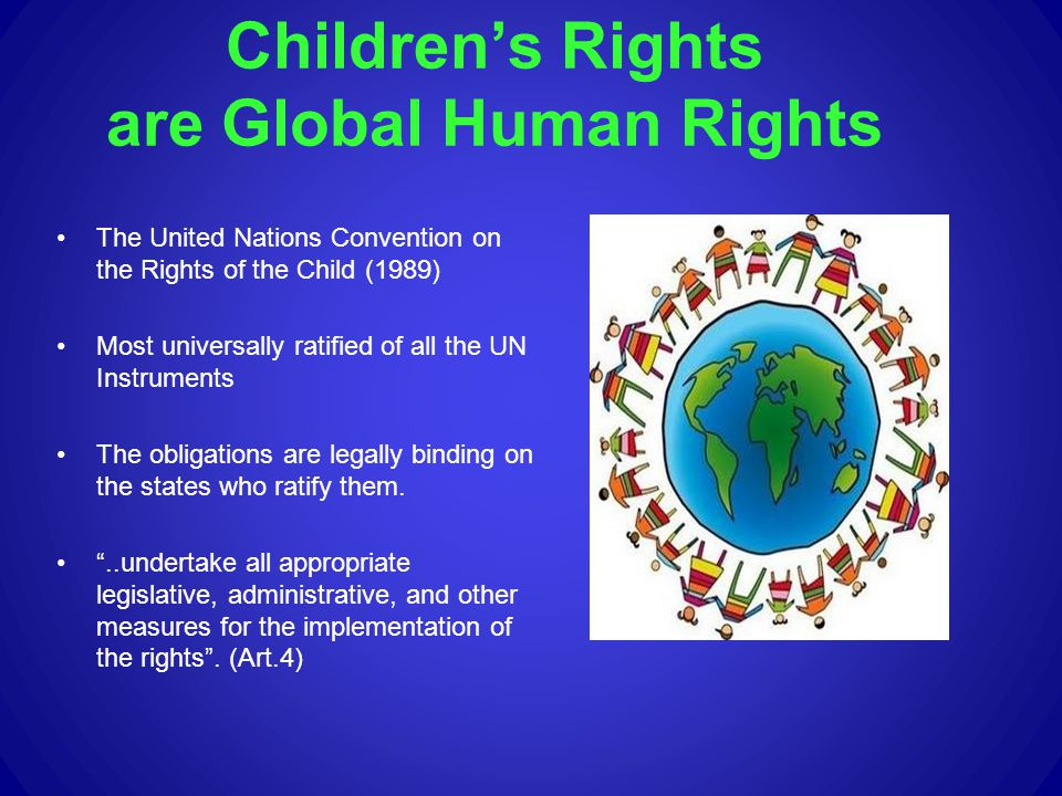 Children's Rights are Global Human Rights