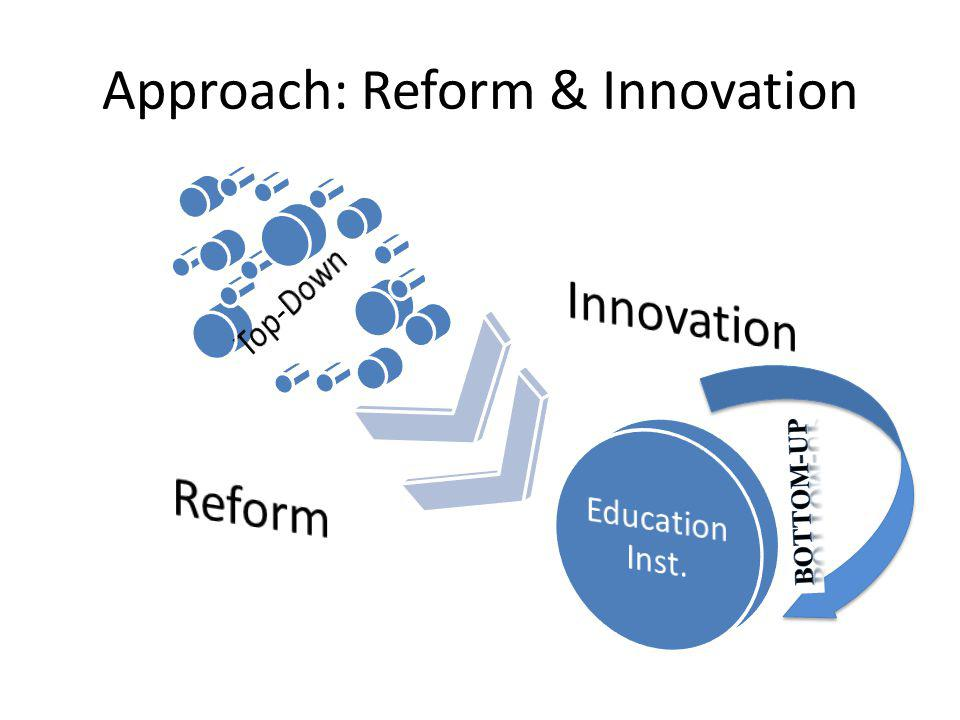 Approach: Reform & Innovation