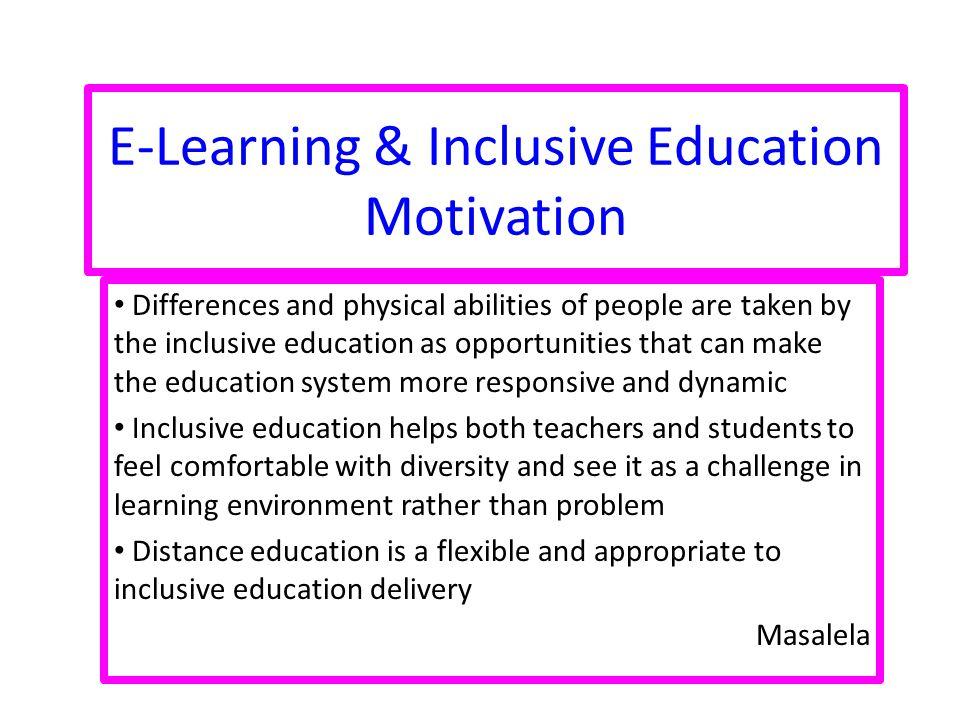 E-Learning & Inclusive Education Motivation
