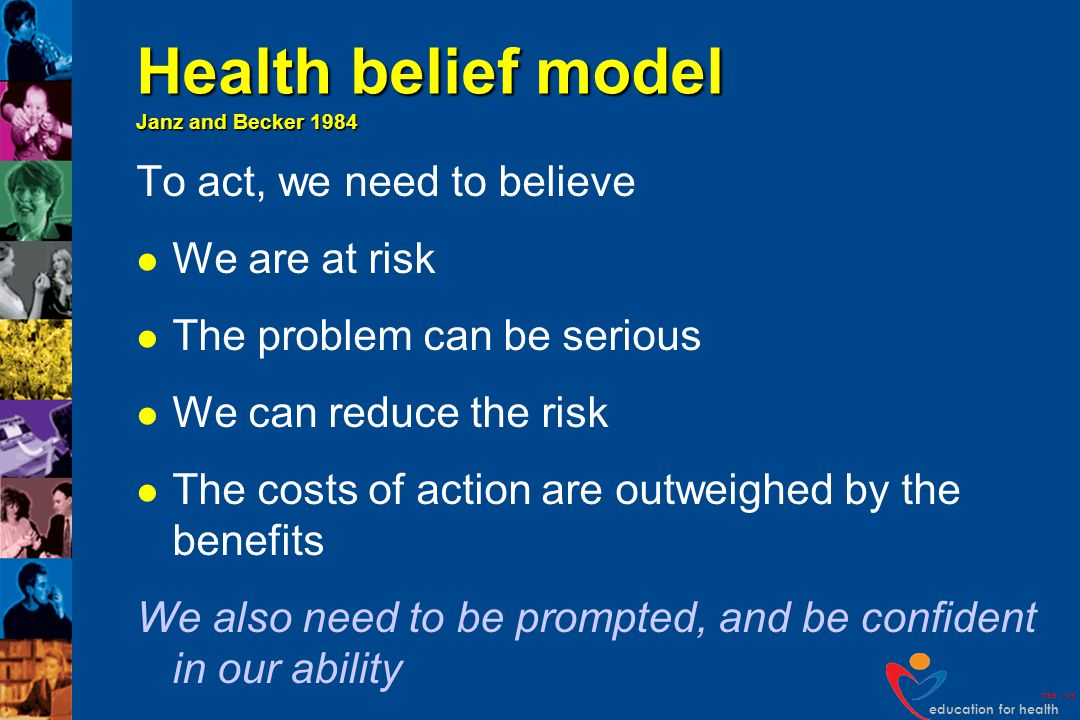 Health belief model Janz and Becker 1984