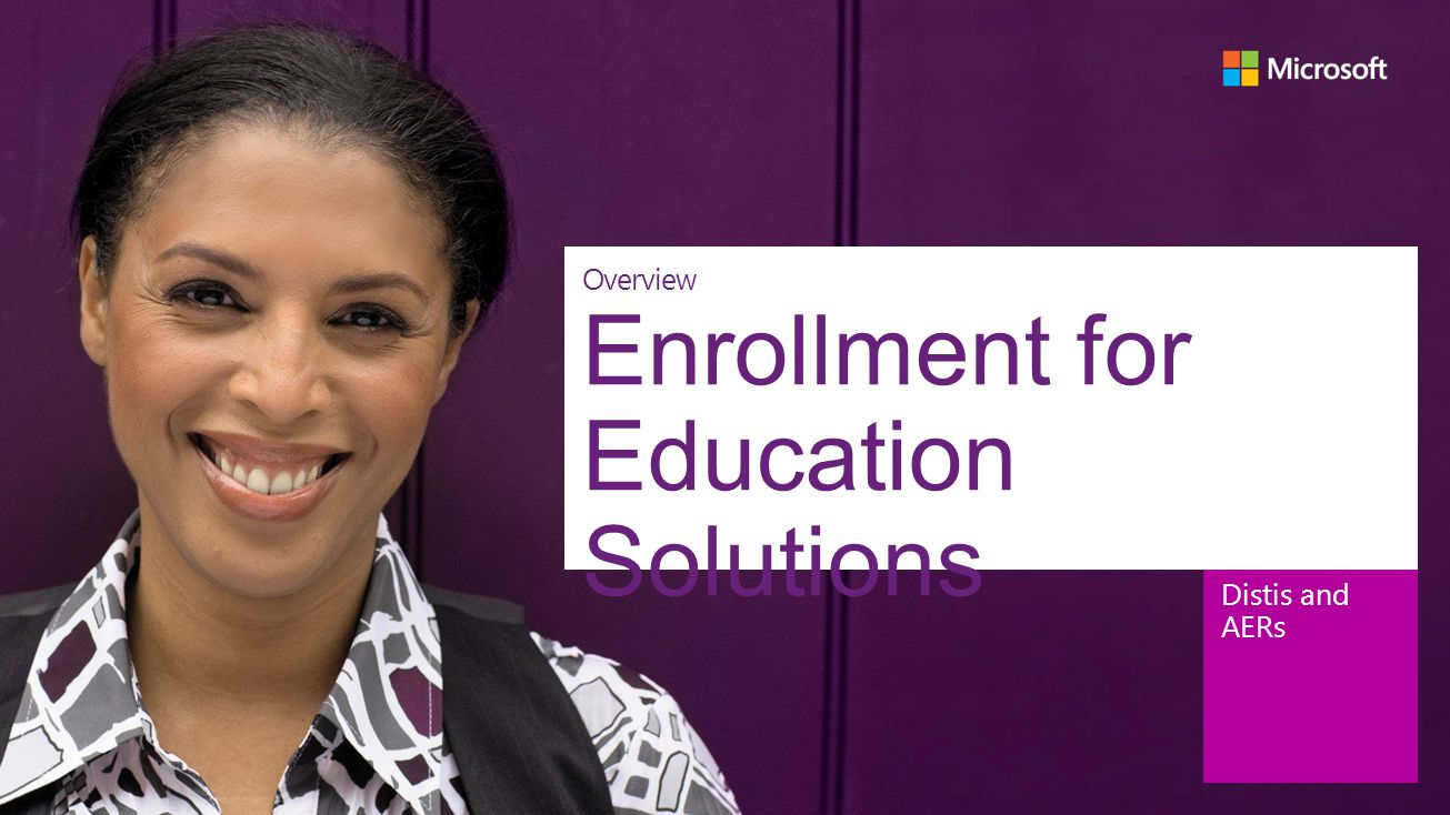 Enrollment for Education Solutions
