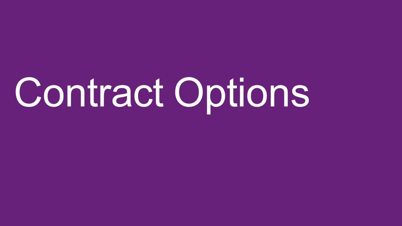 Contract Options