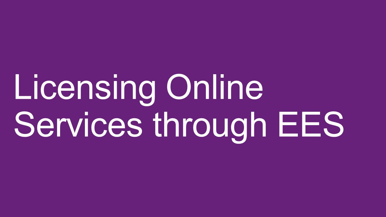 Licensing Online Services through EES