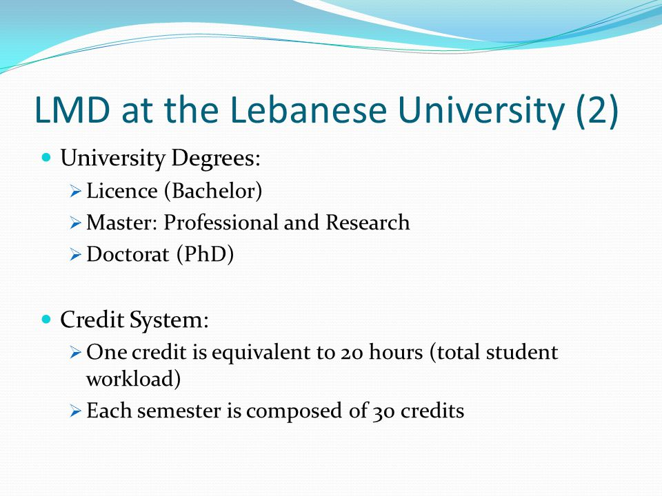 LMD at the Lebanese University (2)