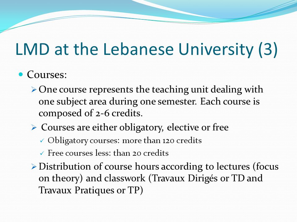 LMD at the Lebanese University (3)