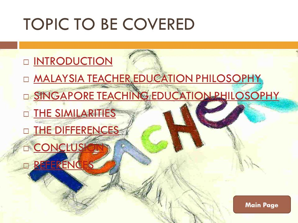 TOPIC TO BE COVERED INTRODUCTION MALAYSIA TEACHER EDUCATION PHILOSOPHY
