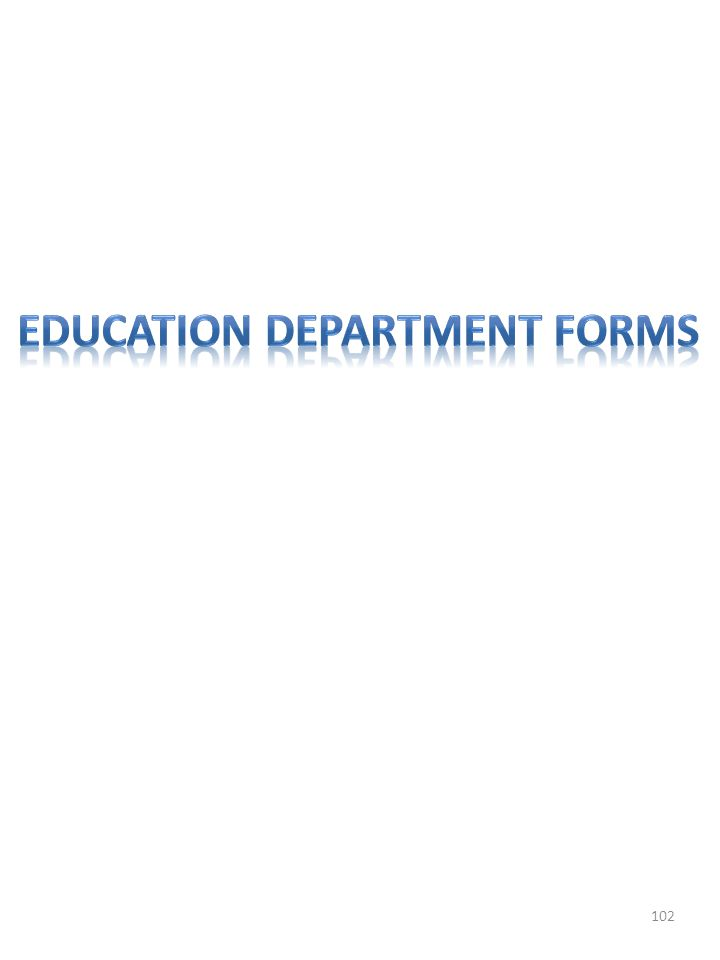 Education department forms