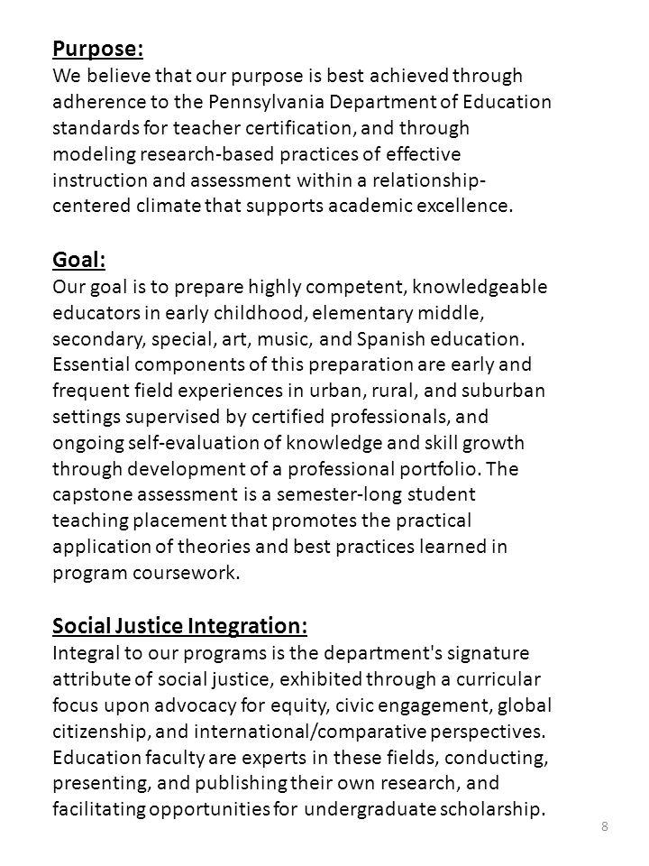 Social Justice Integration: