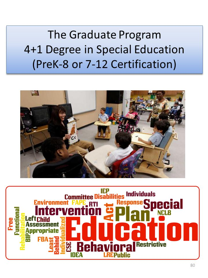 4+1 Degree in Special Education (PreK-8 or 7-12 Certification)