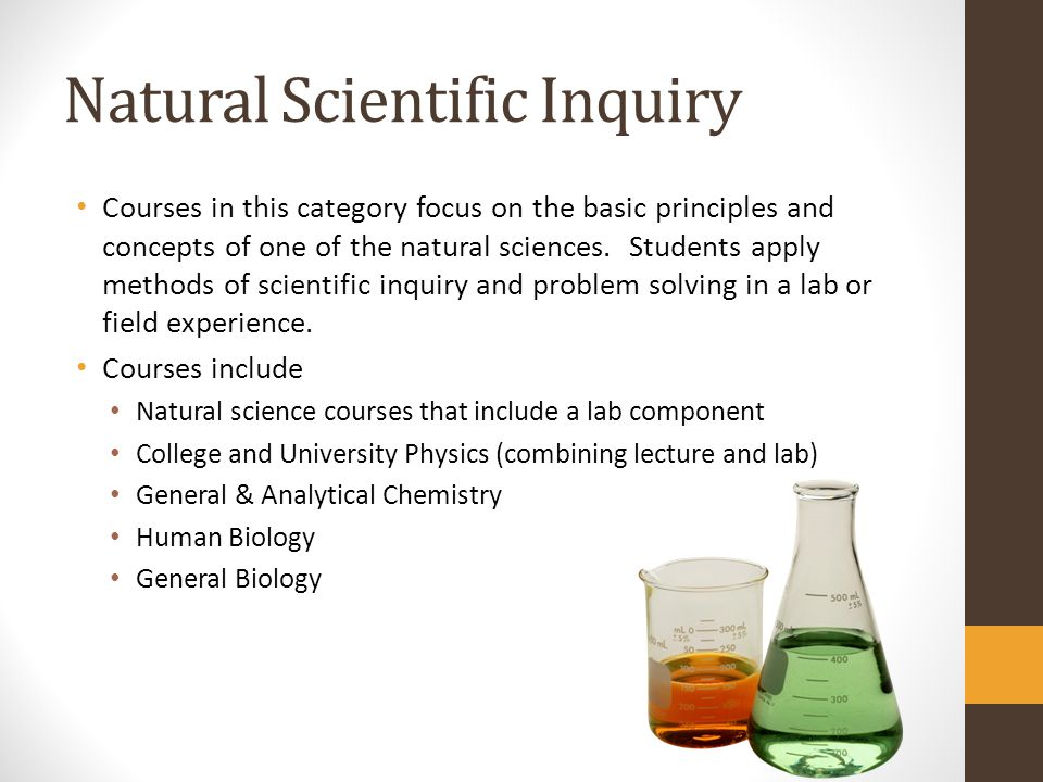 Natural Scientific Inquiry