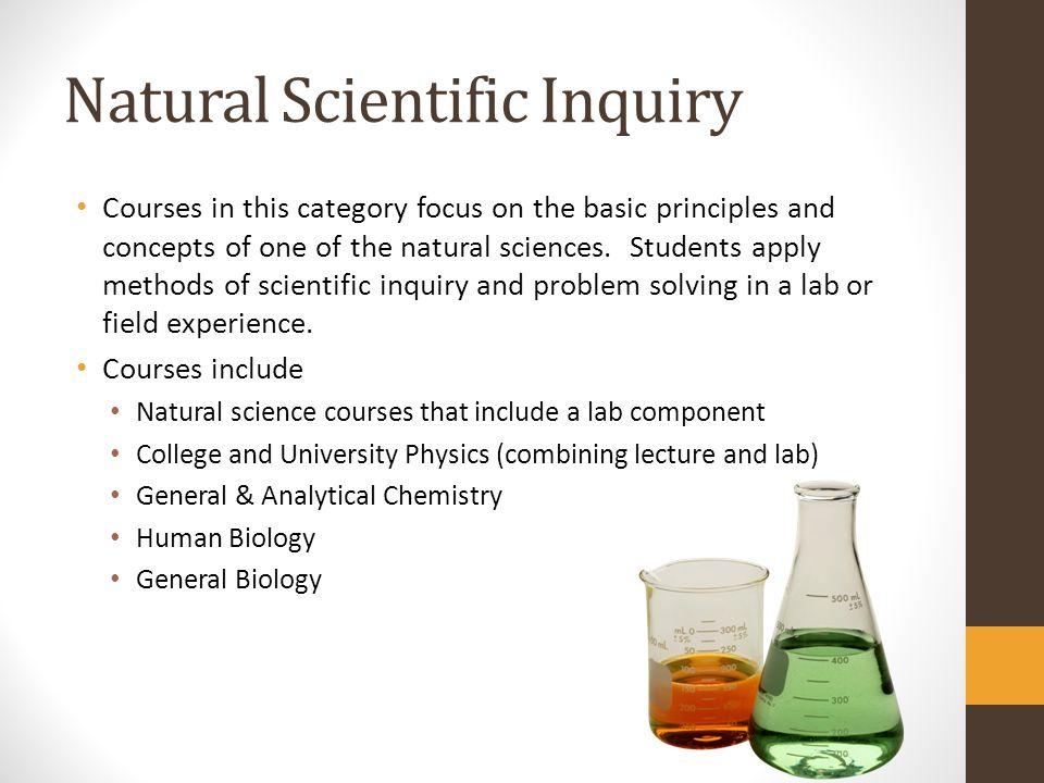Natural Scientific Inquiry