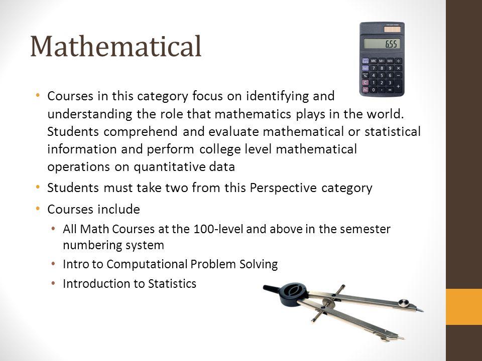 Mathematical