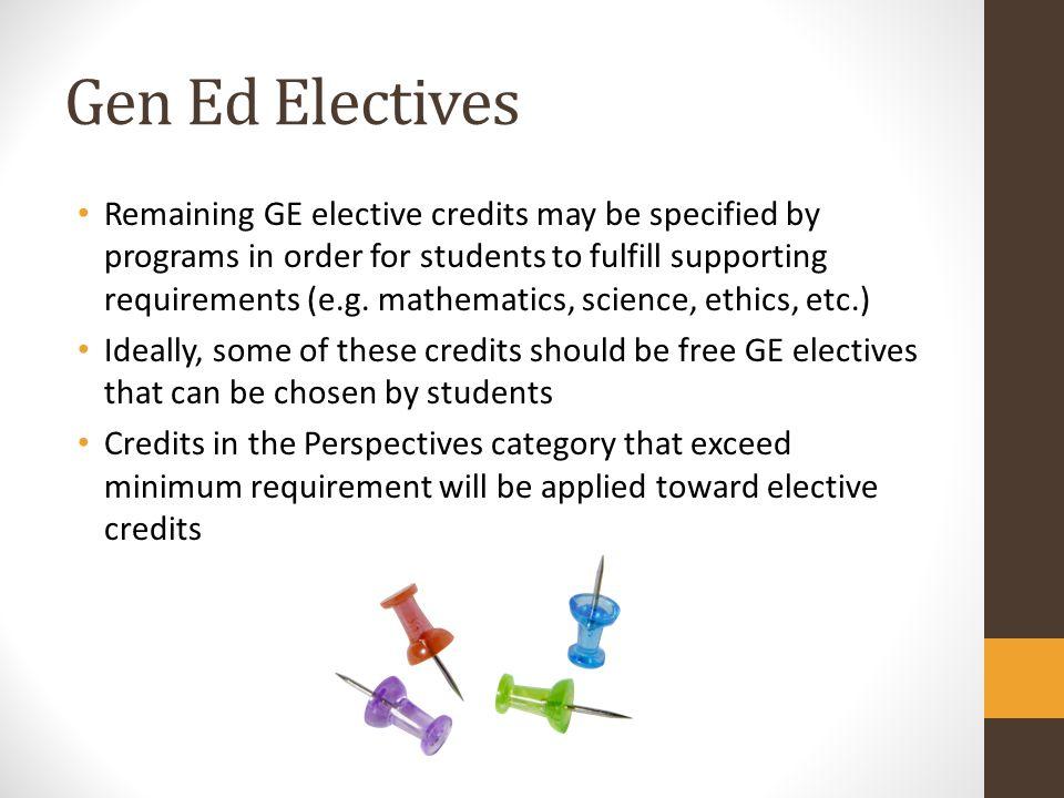 Gen Ed Electives