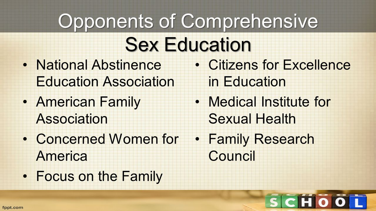 Opponents of Comprehensive Sex Education