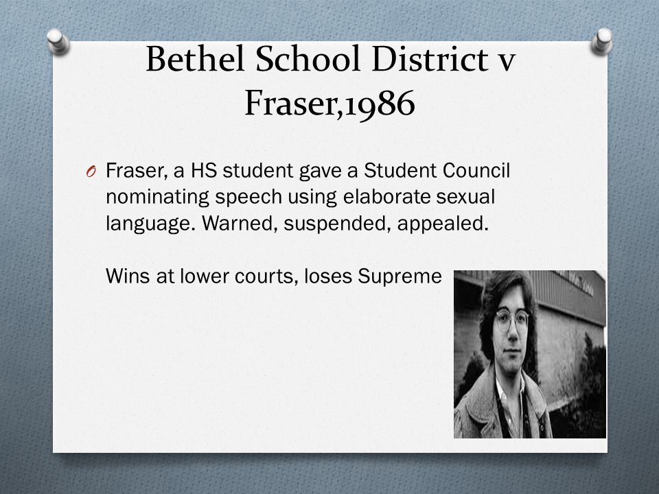 Bethel School District v Fraser,1986