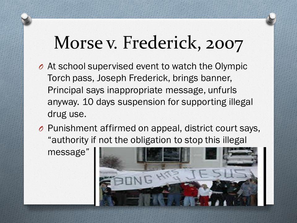 Morse v. Frederick, 2007