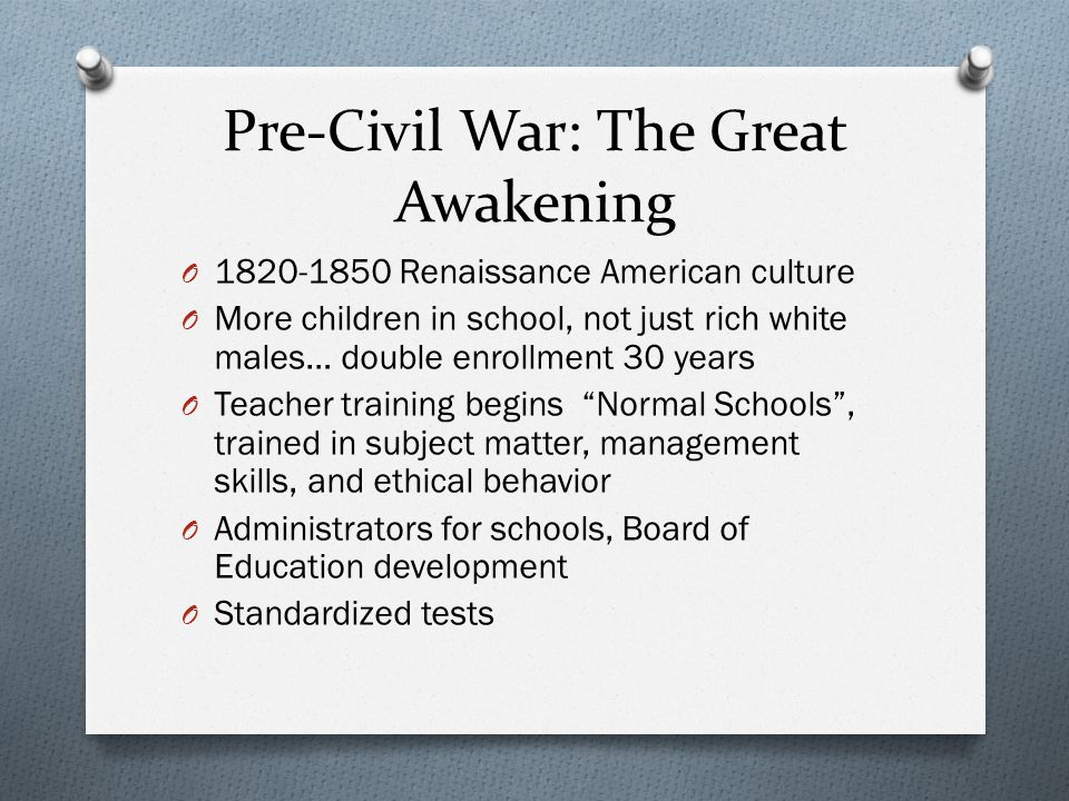 Pre-Civil War: The Great Awakening