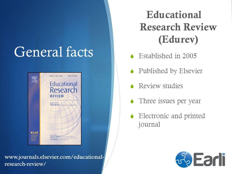 Educational Research Review (Edurev)
