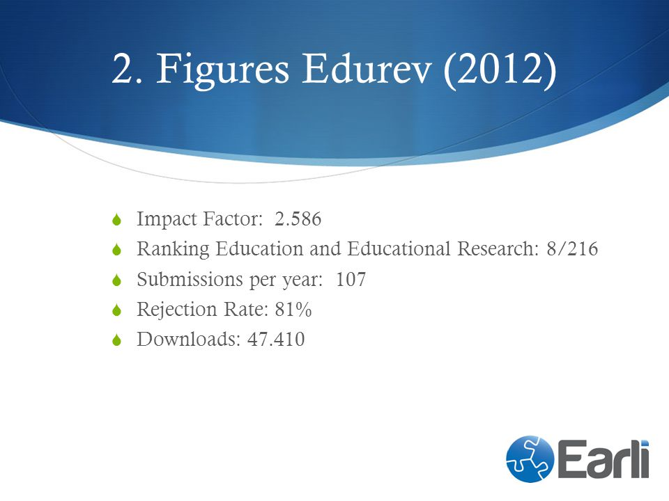 2. Figures Edurev (2012) Impact Factor: 2.586