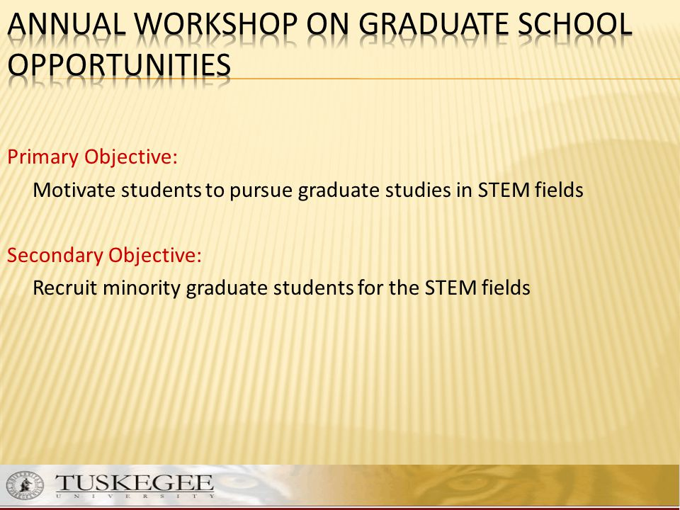 Annual Workshop on Graduate School Opportunities