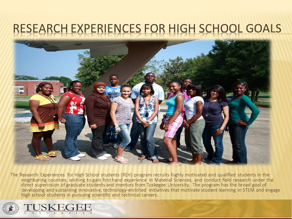 Research Experiences for High School Goals