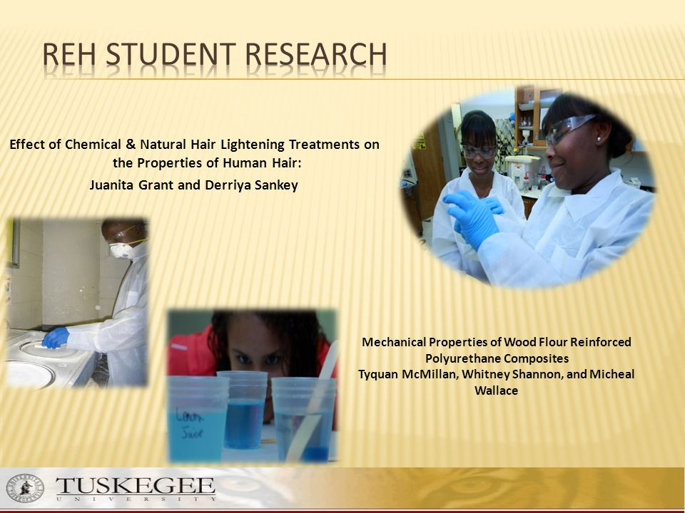 REH STUDENT RESEARCH Effect of Chemical & Natural Hair Lightening Treatments on the Properties of Human Hair: