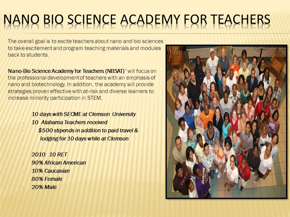 Nano Bio Science Academy for Teachers