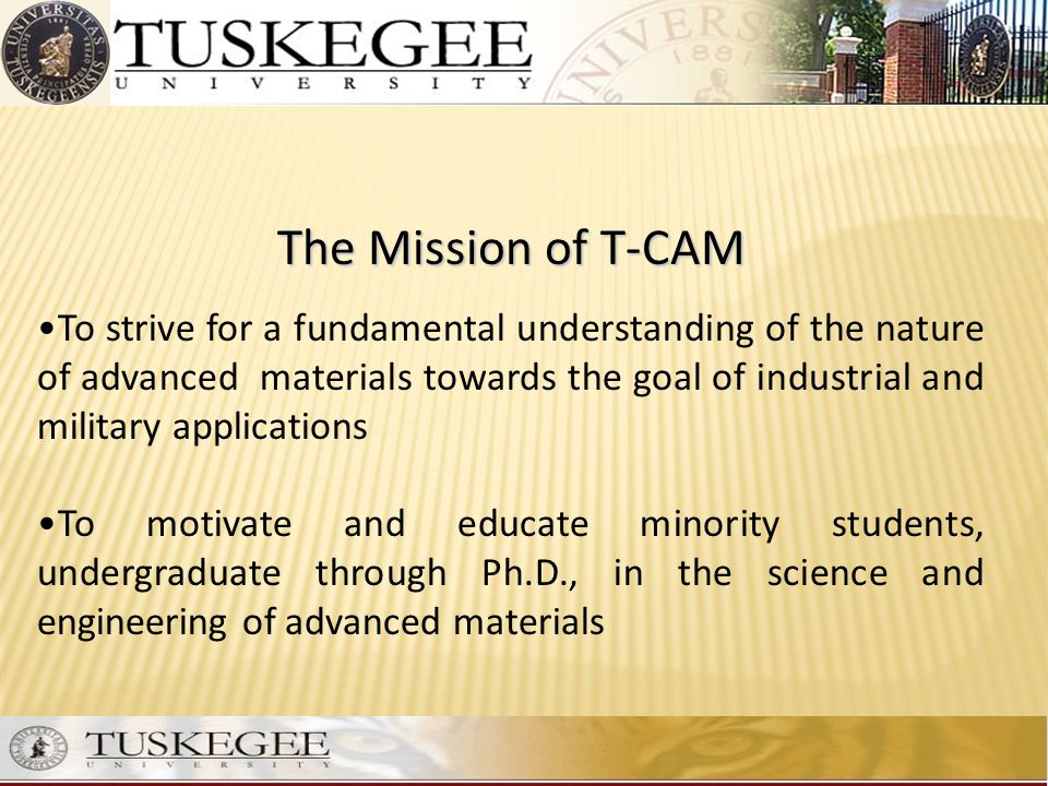 The Mission of T-CAM