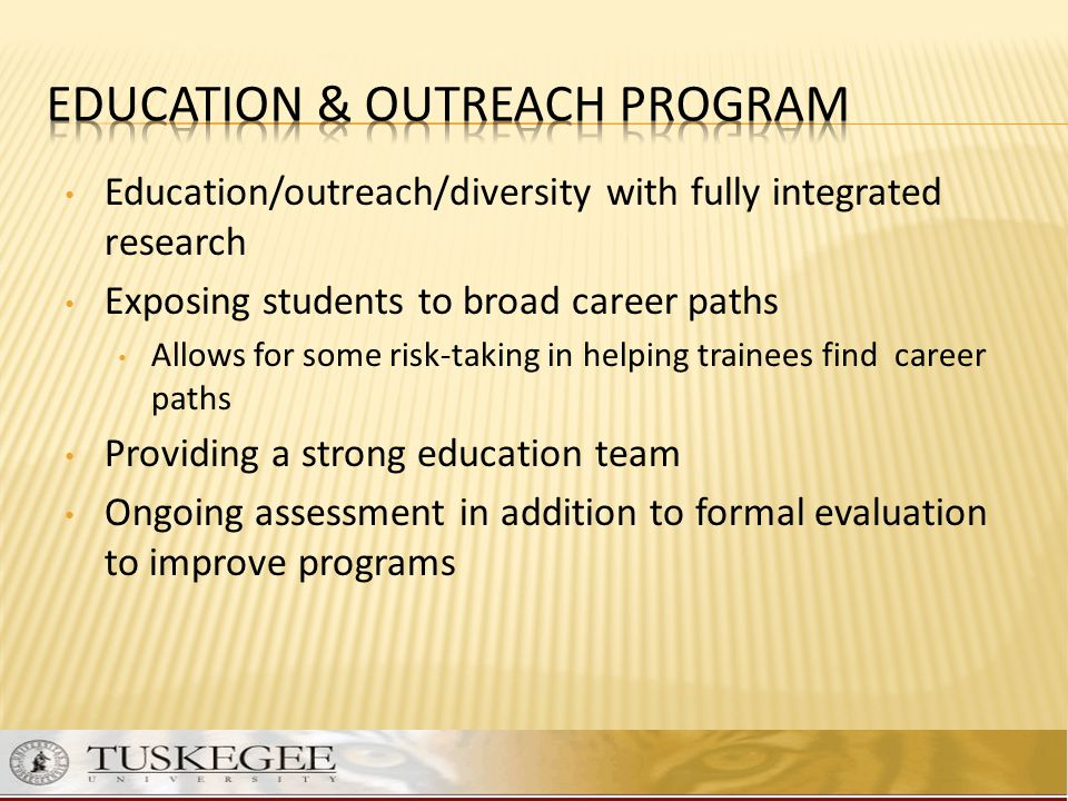 Education & Outreach Program