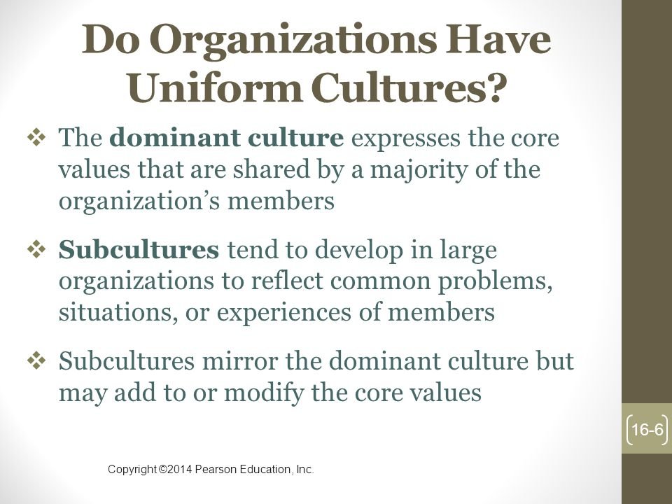 Do Organizations Have Uniform Cultures