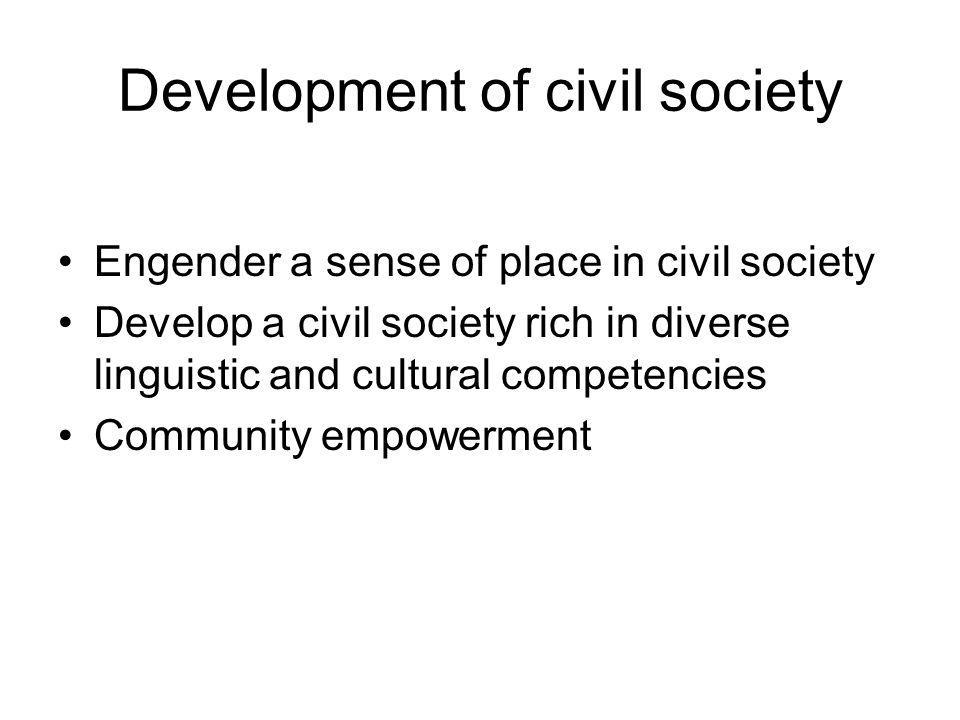 Development of civil society